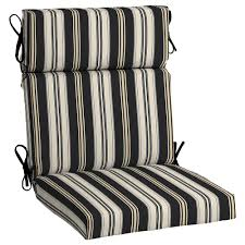 outdoor dining chair cushions. Hampton Bay Black Stripe Outdoor Dining Chair Cushion Cushions