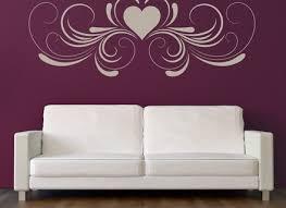 decorative heart symmetrical header love hearts wall stickers home
