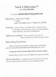 How To Put Babysitting On A Resume Jh6b How To Put Babysitting On