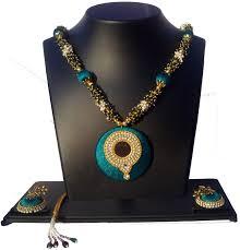tanu art craft Silk Dori, Wood, Brass, Plastic, Stone Jewel Set ...