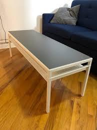 ikea nyboda coffee table white grey