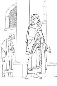 Kinderwoorddienst Kleurplaat De Farizeeër En De Tollenaar