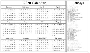 Free Malaysia Calendar 2020 With Holidays Pdf Excel