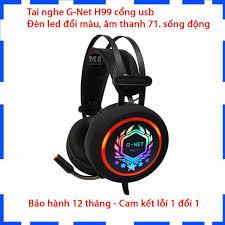 Tai nghe Gaming Gnet H99 âm thanh 7.1 - Cổng usb - Mic nói cực rõ - Led đổi  màu - Bảo hành 12 Tháng - Lỗi 1 đổi 1 tại Hà Nội