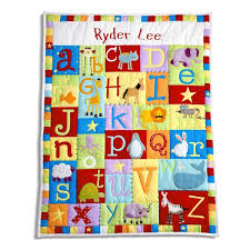 16 best Alphabet baby quilt images on Pinterest   Child, Art ideas ... & Baby Alphabet Quilt Primary   Personalized Baby Alphabet Quilt Primary Gift    Cute Kid Creations Adamdwight.com