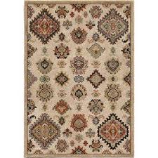 tangier beige southwestern soft 5 ft x 8 ft indoor area rug