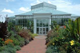 the orchid conservatory at the daniel stowe botanical garden near charlotte north ina maintains a tropical environment and exotic plants