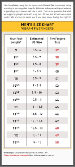 Mens Size Chart Mens Size Chart