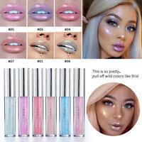 Glitter <b>Pearl</b> Color <b>Shiny</b> Lip Gloss Liquid Lipstick <b>Metal</b> Matte ...