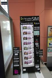 Kansai Airport Sim Card Vending Machine Simple Buy A Prepaid SIM Card When You Arrive At Kansai International