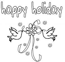 Small Picture Printable Holiday Coloring Sheets Calobee On Etsy within Happy