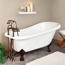 Astounding Bathroom Decoration Design With Painted Clawfoot Tub : Stunning  Bathroom Decoration Ideas Using Black Painted
