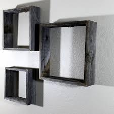 barn wood open box shelves set of three by rustic decor llc on dot bo