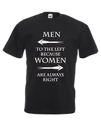 Graphic Design For Men Men To The Left Women Right Graphic Design Quality T Shirt