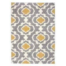 cozy moroccan trellis 2525 yellow 94 x 120 indoor area rug yellow gray