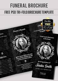 20 Modern And Professional Free Psd Funeral Program Templates ...