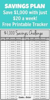 52 Week Challenge Plan Save 1 000 Free Printable