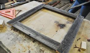 Making a picture frame Crown Molding Diy Pete How To Make Barnwood Picture Frame