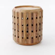 outstanding wood drum side table fancy dining table ideas throughout wood drum table modern