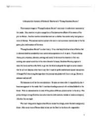 a structuralist analysis of nathaniel hawthornes young goodman  page 1 zoom in
