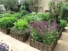 container garden design. Contemporary Garden Unique Garden Design With Willow Baskets And Sandy Paths On Container Garden Design O