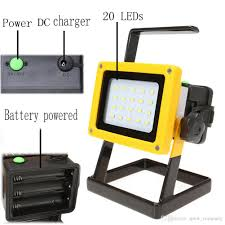 Portable Led Work Lights Nz 10000lm 10w Led Flood Light Rechargeable Led Floodlight Lithium 18650 Battery 20leds Flood Lamp Portable Light Ip65 Work Lamp Spotlight Chinese