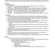 Qa Engineer Sample Resume Oneswordnet