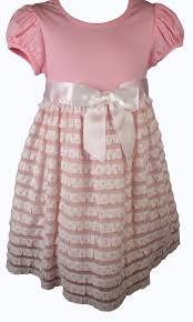Bonnie Jean Pink Polka Dot Ruffled Girls Dress Treasure Box Kids