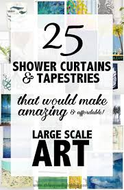 Artistic shower curtains Design Create Large Wall Art With Shower Curtains And Tapestries Shine Your Light Large Scale Art From An Unexpected Source Shine Your Light