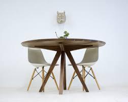 mid century modern round walnut dining table. dining table, round modern walnut mid century table r