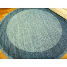240cm round trendy contemporary floor rugs emphasis plain frame blue in
