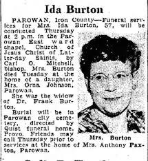 Ida Marie Orton Gillies Burton Obituary - Newspapers.com