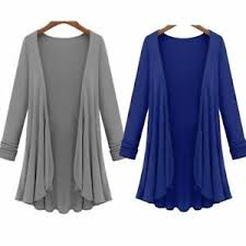 Ebay Asian Size Chart Details About Lightweight Women Long Sleeve Knitted Open Front Loose Cardigan Sweater