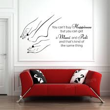 Manicure <b>Pedicure Vinyl Wall Stickers</b> Nail Salon Wall Poster ...