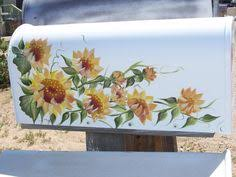 hand painted mailbox designs. Hand-Painted Mailbox With Sunflowers By DiceyDesigns On Etsy Hand Painted Designs T