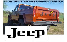 Graphic Express - 1963-88 Jeep - J10 J-Truck Tailgate Letter Decal Set