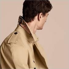 burberry men s trench coat collar check print