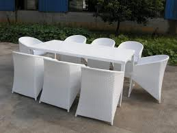 white outdoor furniture. patio furniture with modern chairs and long inside white wicker table outdoor