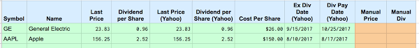 Google Finance Stock Quotes Unique Dividend Stock Portfolio Spreadsheet On Google Sheets Two Investing