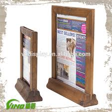 Wooden Menu Display Stands Table Stand Menu Holder Wood Menu Stand Restaurant Menu 23