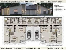 6 bed 4 bath skillion roof duplex