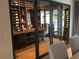 wine cellar glass doors design