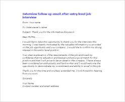 Interview Thank You Email Subject Line Template Business