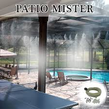 Outdoor Cooling Systems Blog  All About High Pressure Misting Backyard Misting Systems
