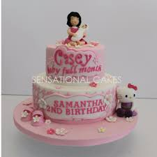 Dior Style Cake For Mum And Baby Girl Hello Kitty 3d Cake