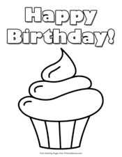 Of course, you can choose from the many themes of this website, but you can. Happy Birthday Coloring Pages Free Printable Pdf From Primarygames