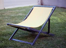 image of folding sling chair wood plans