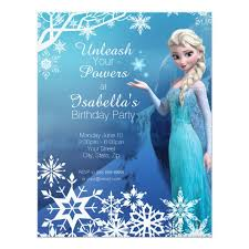 elsa birthday invitations frozen elsa birthday party invitation zazzle com