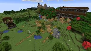 Minecraft Village Seeds Mansion Village Fusion Next To Pillager Outpost At 175 73