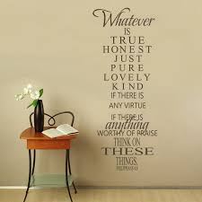 removable scripture wall decal philippians lord inspired saying vinyl home decor